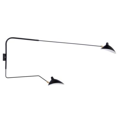 セルジュ・ムーユ アプリク ミュラル ドゥ ブラ ピヴォタン ウォールランプ(2灯タイプ)