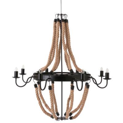 インダストリアル ロープアンティーク シャンデリア 8灯タイプ